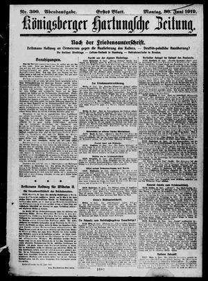 Königsberger Hartungsche Zeitung vom 30.06.1919