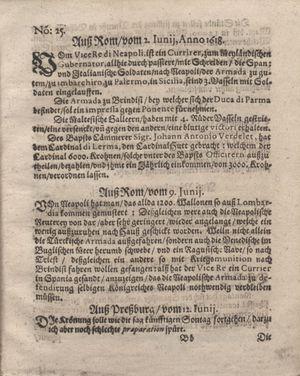 Bericht was sich zu anfang dieß itzt angehenden ... Jahres in Deutschlandt, Franckreich, Welschlandt, Böhmen, Ungern, Nederlandt und in andern örten hin unnd wieder zugetragen vom 02.07.1618