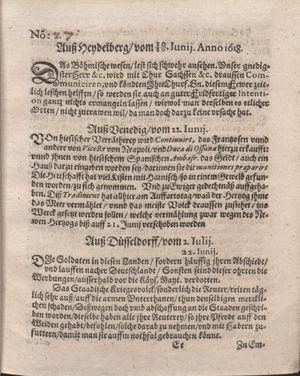 Bericht was sich zu anfang dieß itzt angehenden ... Jahres in Deutschlandt, Franckreich, Welschlandt, Böhmen, Ungern, Nederlandt und in andern örten hin unnd wieder zugetragen vom 16.07.1618
