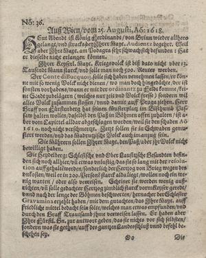 Bericht was sich zu anfang dieß itzt angehenden ... Jahres in Deutschlandt, Franckreich, Welschlandt, Böhmen, Ungern, Nederlandt und in andern örten hin unnd wieder zugetragen on Sep 17, 1618