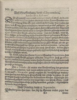 Bericht was sich zu anfang dieß itzt angehenden ... Jahres in Deutschlandt, Franckreich, Welschlandt, Böhmen, Ungern, Nederlandt und in andern örten hin unnd wieder zugetragen vom 22.10.1618