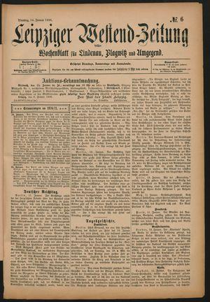 Leipziger Westend-Zeitung vom 14.01.1896