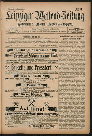 Leipziger Westend-Zeitung vom 25.01.1896