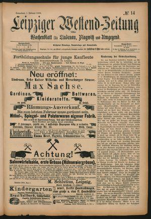 Leipziger Westend-Zeitung vom 01.02.1896
