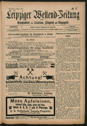 Leipziger Westend-Zeitung vom 08.02.1896