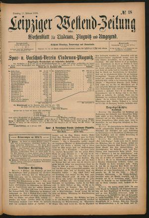 Leipziger Westend-Zeitung vom 11.02.1896