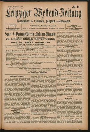 Leipziger Westend-Zeitung vom 25.02.1896