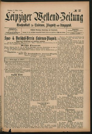 Leipziger Westend-Zeitung vom 03.03.1896