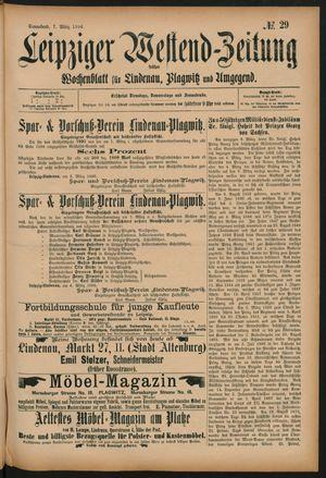 Leipziger Westend-Zeitung vom 07.03.1896