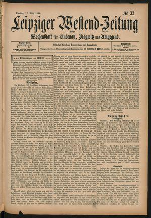 Leipziger Westend-Zeitung vom 17.03.1896