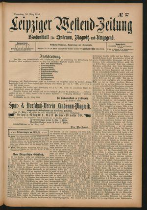 Leipziger Westend-Zeitung vom 26.03.1896