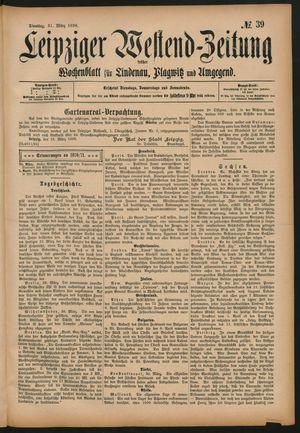 Leipziger Westend-Zeitung vom 31.03.1896