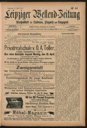 Leipziger Westend-Zeitung vom 11.04.1896