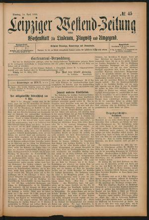 Leipziger Westend-Zeitung vom 14.04.1896