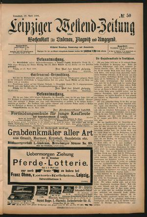 Leipziger Westend-Zeitung vom 25.04.1896