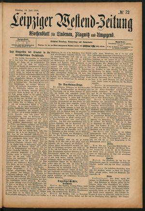 Leipziger Westend-Zeitung vom 16.06.1896