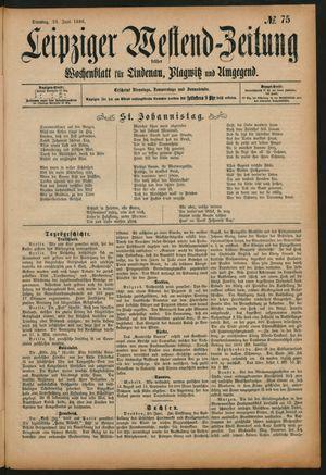 Leipziger Westend-Zeitung vom 23.06.1896