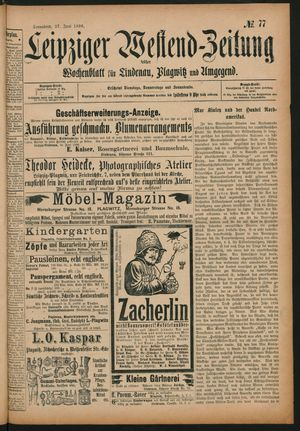 Leipziger Westend-Zeitung vom 27.06.1896