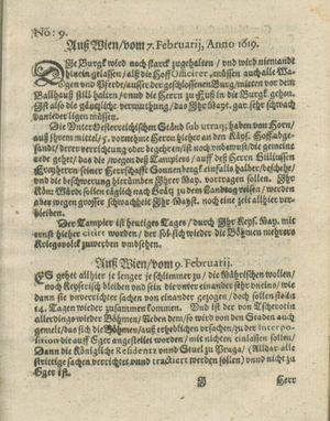 Zeitung auß Deutschlandt, Welschlandt, Franckreich, Böhmen, Hungarn, Niederlandt und andern Orten vom 11.03.1619