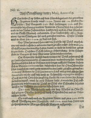 Zeitung auß Deutschlandt, Welschlandt, Franckreich, Böhmen, Hungarn, Niederlandt und andern Orten vom 03.06.1619