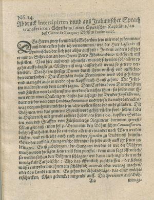Zeitung auß Deutschlandt, Welschlandt, Franckreich, Böhmen, Hungarn, Niederlandt und andern Orten vom 24.06.1619