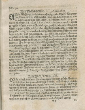 Zeitung auß Deutschlandt, Welschlandt, Franckreich, Böhmen, Hungarn, Niederlandt und andern Orten on Aug 5, 1619