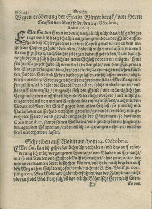 Zeitung auß Deutschlandt, Welschlandt, Franckreich, Böhmen, Hungarn, Niederlandt und andern Orten vom 11.11.1619