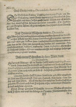 Zeitung auß Deutschlandt, Welschlandt, Franckreich, Böhmen, Hungarn, Niederlandt und andern Orten vom 06.01.1620