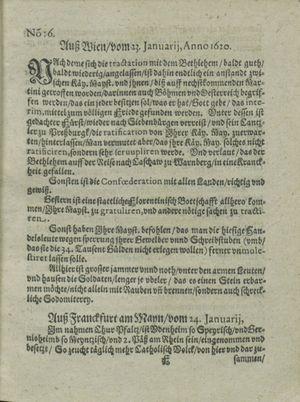Zeitung auß Deutschlandt, Welschlandt, Franckreich, Böhmen, Hungarn, Niederlandt und andern Orten vom 17.02.1620