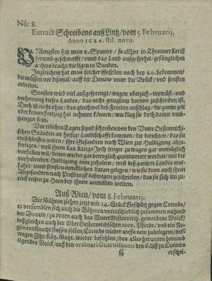 Zeitung auß Deutschlandt, Welschlandt, Franckreich, Böhmen, Hungarn, Niederlandt und andern Orten on Mar 2, 1620