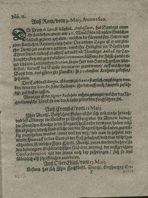 Zeitung auß Deutschlandt, Welschlandt, Franckreich, Böhmen, Hungarn, Niederlandt und andern Orten on Jun 1, 1620