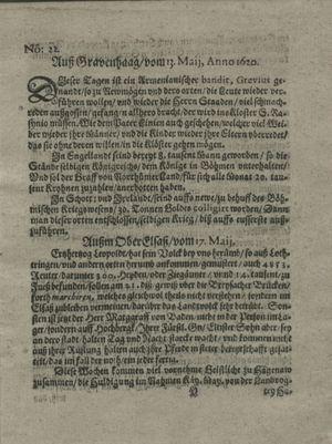 Zeitung auß Deutschlandt, Welschlandt, Franckreich, Böhmen, Hungarn, Niederlandt und andern Orten vom 08.06.1620