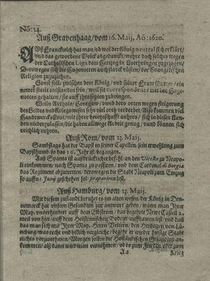 Zeitung auß Deutschlandt, Welschlandt, Franckreich, Böhmen, Hungarn, Niederlandt und andern Orten on Jun 22, 1620