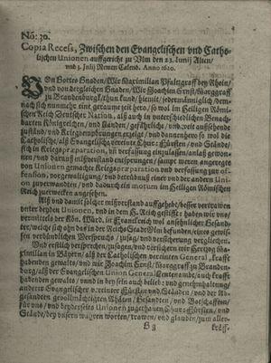 Zeitung auß Deutschlandt, Welschlandt, Franckreich, Böhmen, Hungarn, Niederlandt und andern Orten on Aug 3, 1620