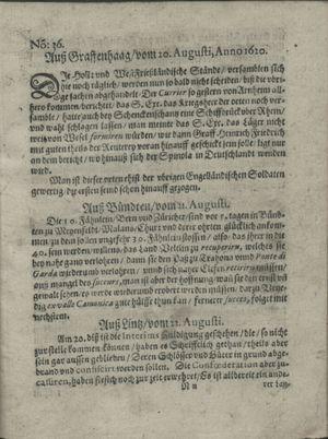 Zeitung auß Deutschlandt, Welschlandt, Franckreich, Böhmen, Hungarn, Niederlandt und andern Orten vom 14.09.1620