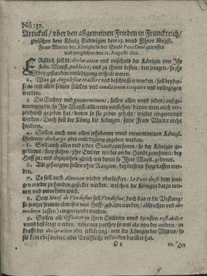 Zeitung auß Deutschlandt, Welschlandt, Franckreich, Böhmen, Hungarn, Niederlandt und andern Orten vom 21.09.1620