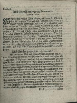 Zeitung auß Deutschlandt, Welschlandt, Franckreich, Böhmen, Hungarn, Niederlandt und andern Orten vom 07.12.1620
