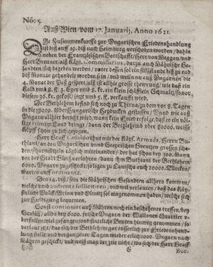 Bericht waß sich zugetragen unnd begeben vom 15.02.1621
