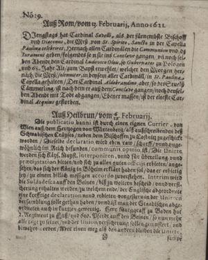 Bericht waß sich zugetragen unnd begeben vom 15.03.1621