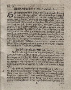 Bericht waß sich zugetragen unnd begeben vom 22.03.1621