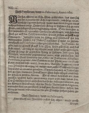 Bericht waß sich zugetragen unnd begeben vom 29.03.1621