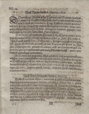 Bericht waß sich zugetragen unnd begeben on Apr 5, 1621