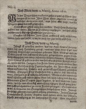 Bericht waß sich zugetragen unnd begeben vom 12.04.1621