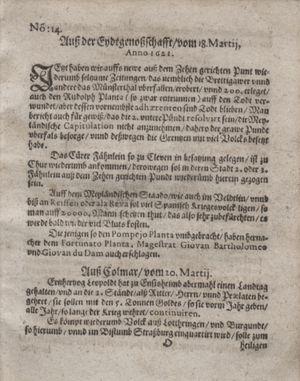 Bericht waß sich zugetragen unnd begeben vom 19.04.1621