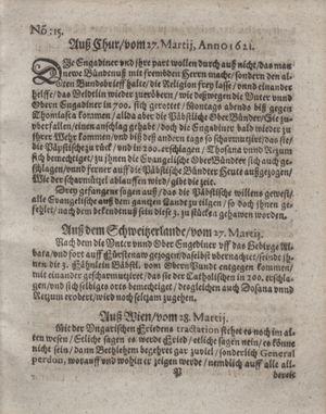 Bericht waß sich zugetragen unnd begeben vom 26.04.1621