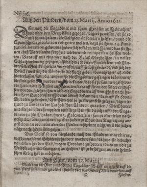 Bericht waß sich zugetragen unnd begeben vom 03.05.1621