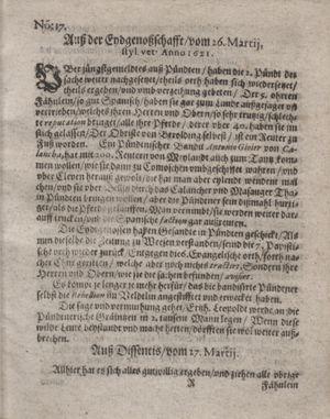 Bericht waß sich zugetragen unnd begeben vom 10.05.1621