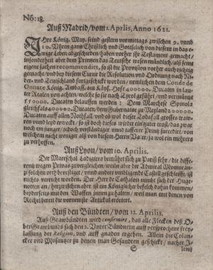 Bericht waß sich zugetragen unnd begeben vom 17.05.1621