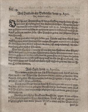 Bericht waß sich zugetragen unnd begeben vom 24.05.1621