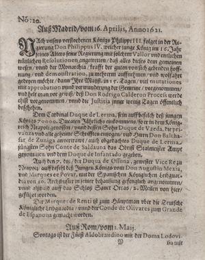 Bericht waß sich zugetragen unnd begeben vom 31.05.1621